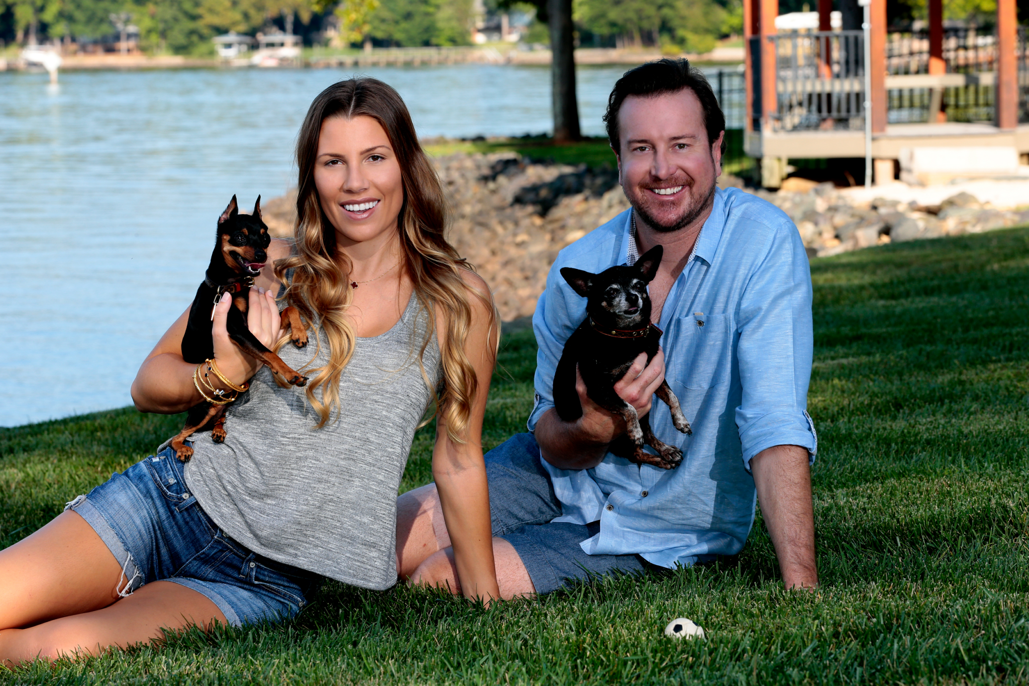 NASCAR Power Couple Kurt & Ashley Busch Introduce Their Dogs