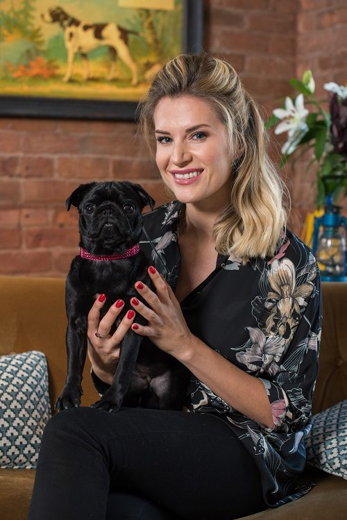 TV's Sarah Jayne Dunn Introduces Her New Dog to K9 Magazine